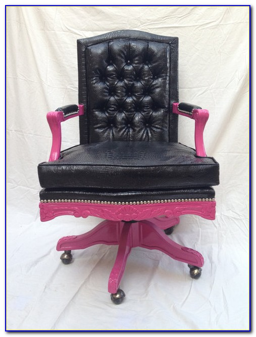 Hot Pink Swivel Desk Chair