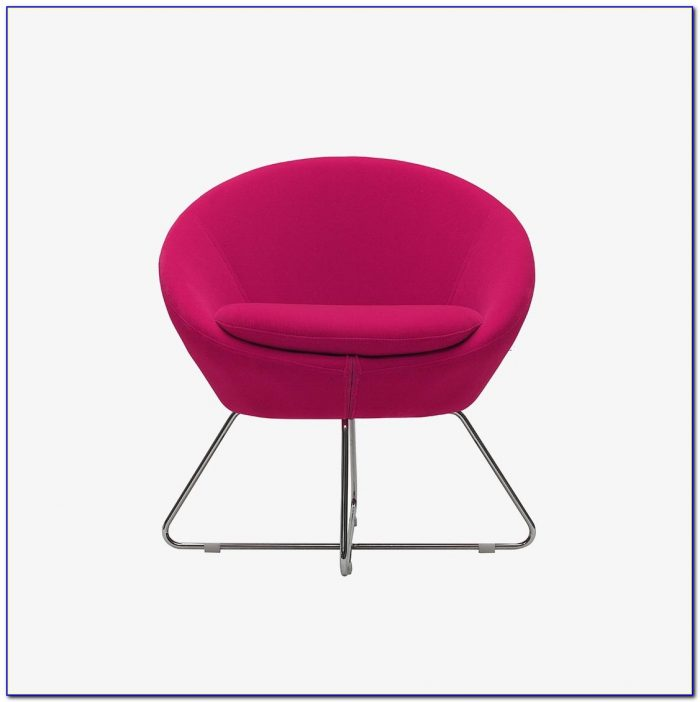 Hot Pink Wooden Desk Chair