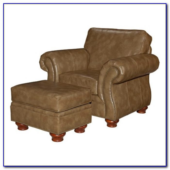 Leather Club Chairs And Ottomans