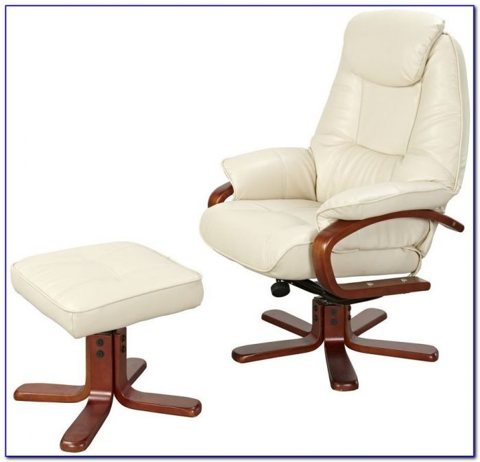 Leather Recliner Swivel Chairs Footstool