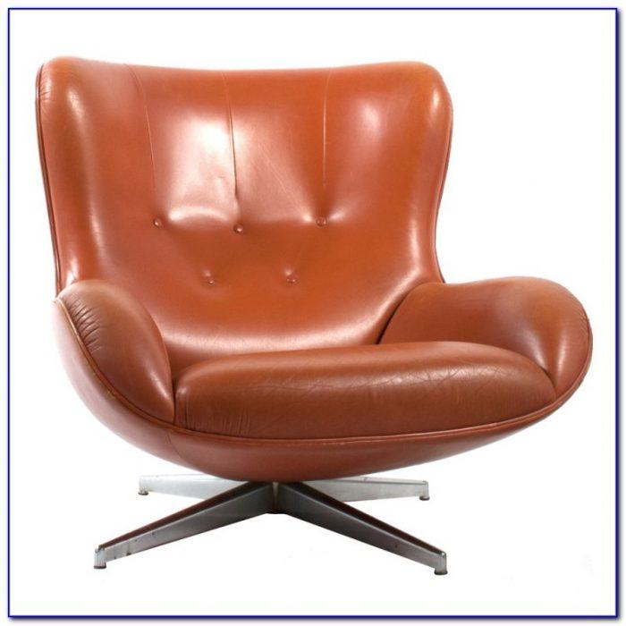 Leather Swivel Rocker Club Chair