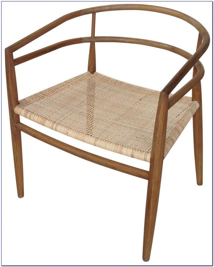 Mid Century Rattan Lounge Chair