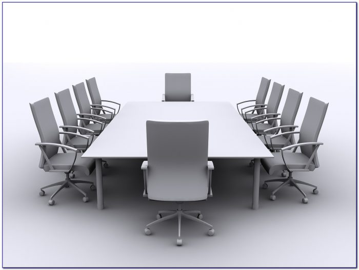 Modern Conference Room Tables And Red Chairs