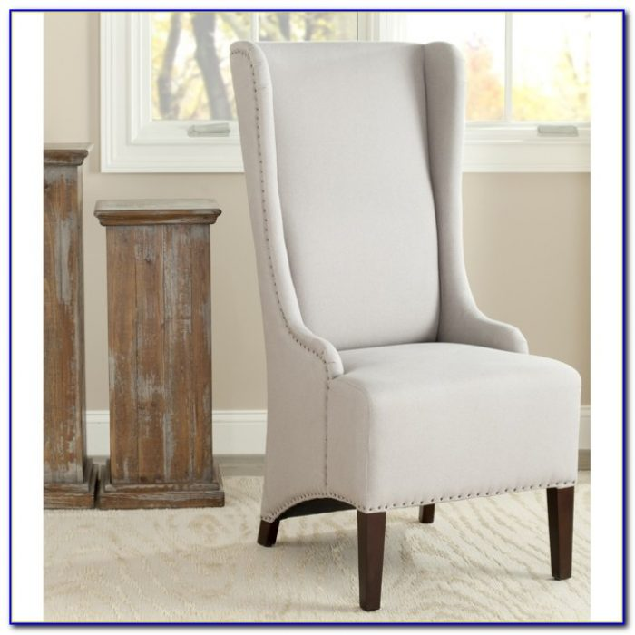 Oak High Back Dining Room Chairs