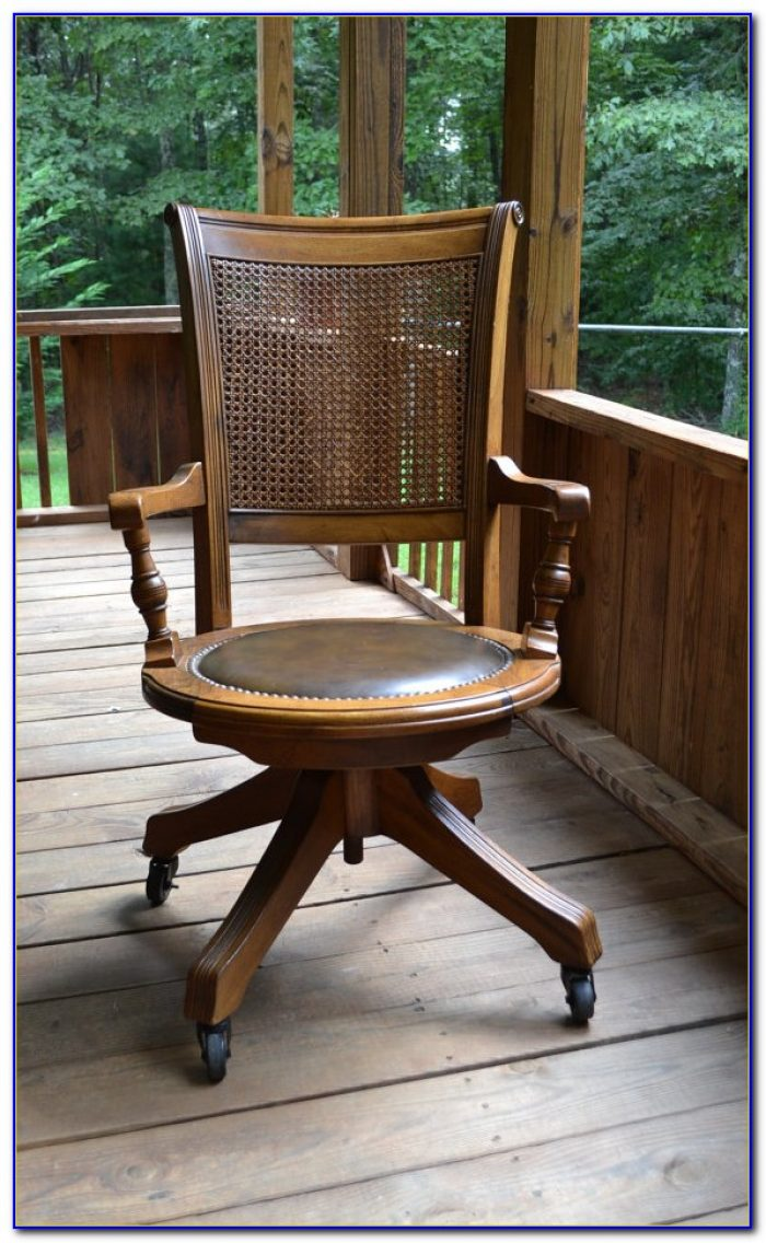 Old Wood Desk Chair
