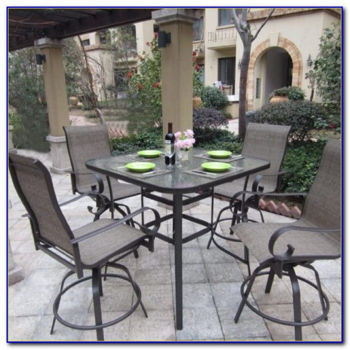 Outdoor Bar Height Bistro Table And Chairs