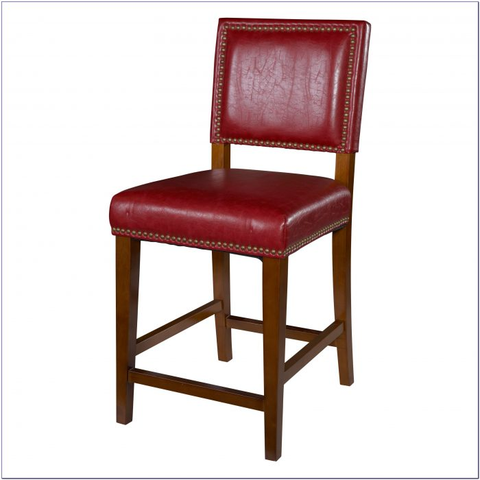 Parson Red Counter Height Chair