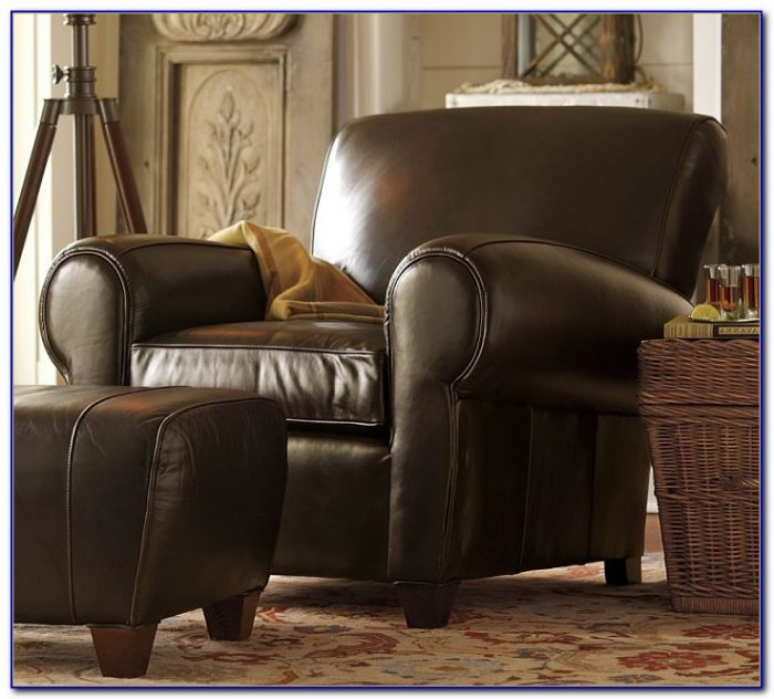 Pottery Barn Leather Chair And A Half