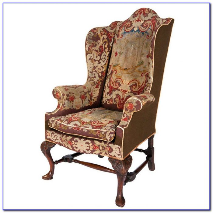 Queen Anne Wing Chair Slipcover