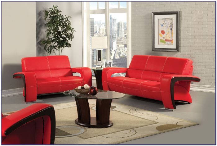 Red Leather Living Room Chairs
