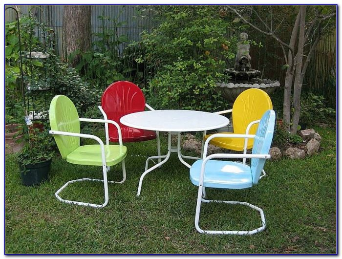 Retro Metal Outdoor Furniture