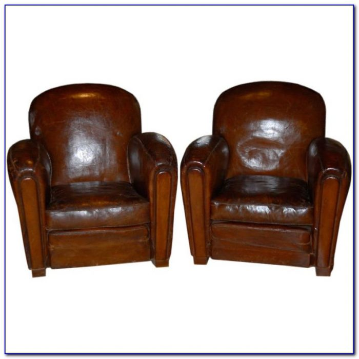 Small Leather Club Chair With Ottoman