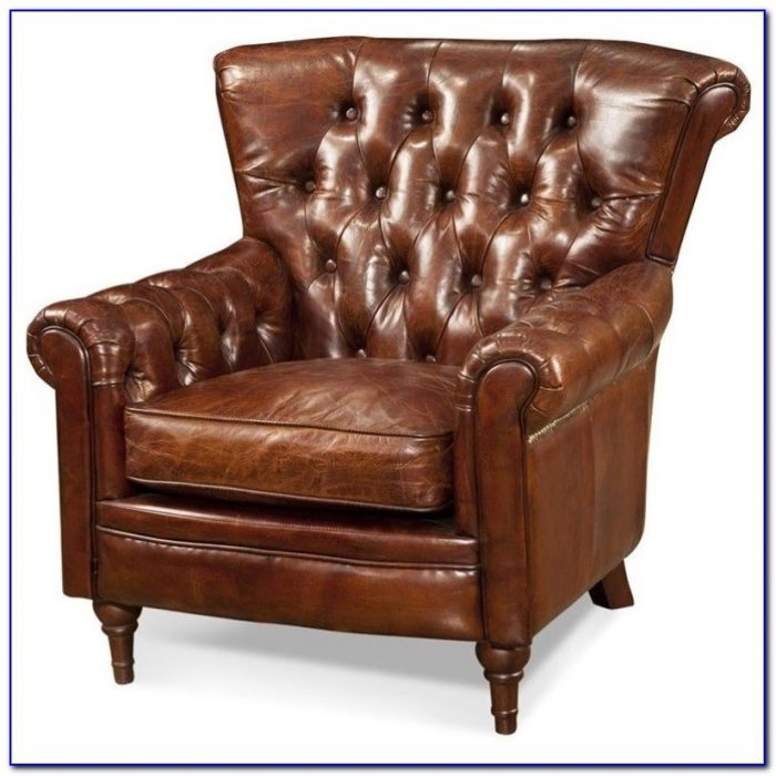 Tufted Modern Leather Club Chair