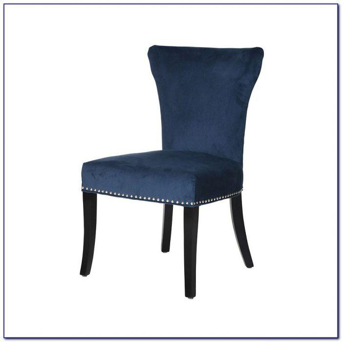 Uptown Navy Velvet Dining Chair