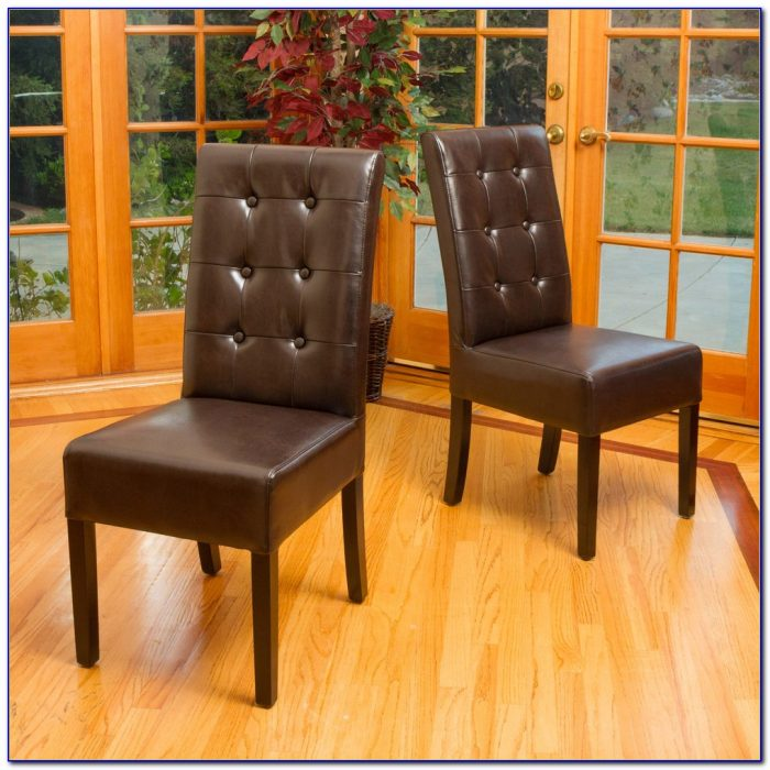 Washington Tufted Leather Dining Chairs