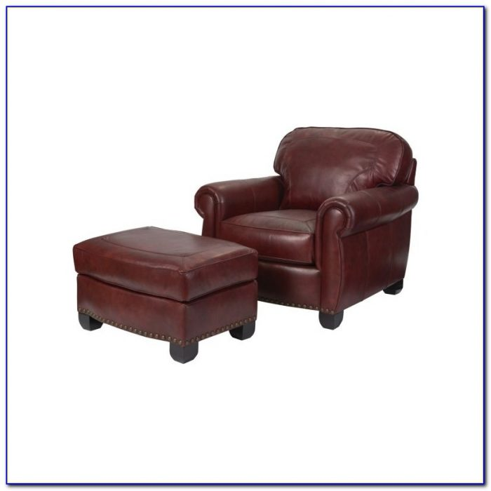 Western Leather Chairs And Ottomans