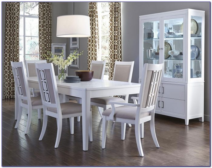 White Distressed Dining Room Table And Chairs