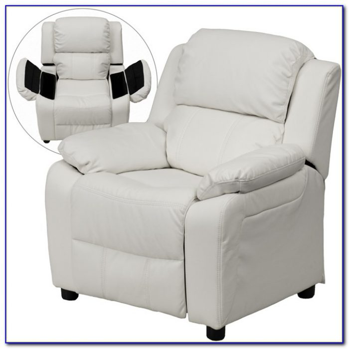White Faux Leather Recliner Chair
