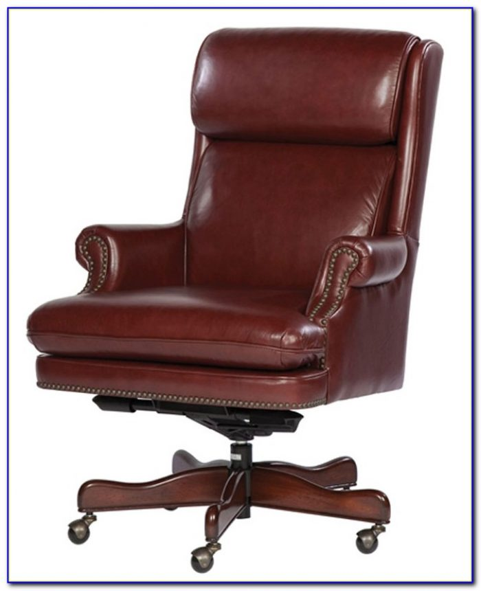 White Genuine Leather Office Chair