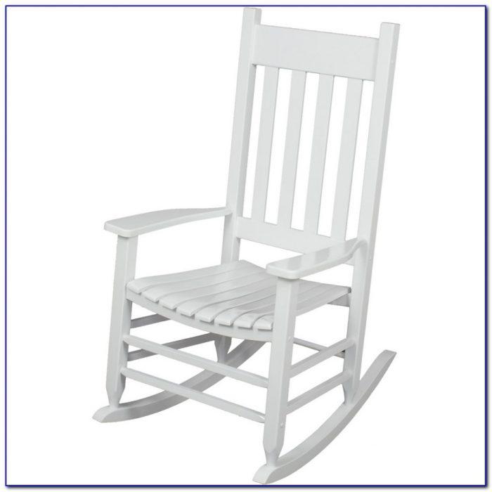 White Wooden Rocking Chair Nursery