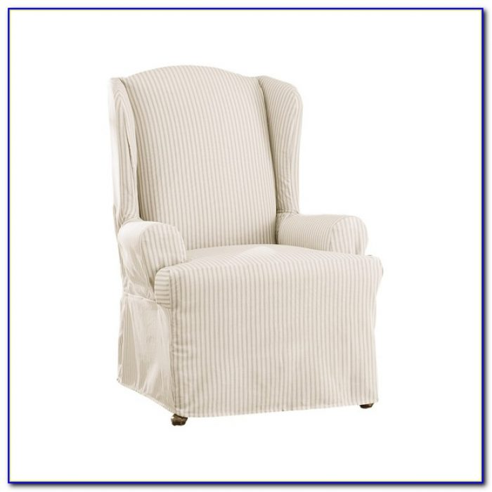 Wing Chair Slip Cover White