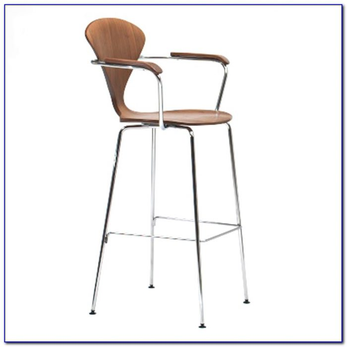 Wooden Bar Chairs With Arms