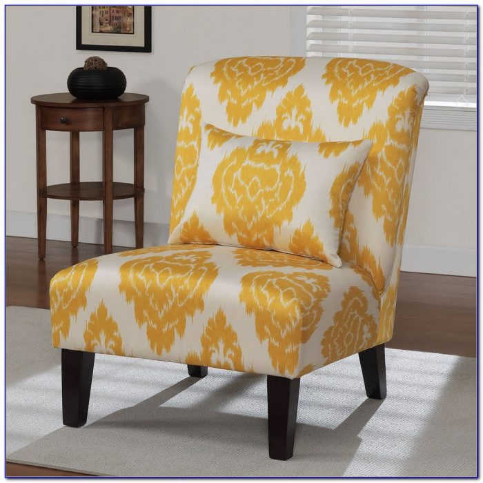 Yellow Leather Living Room Chair