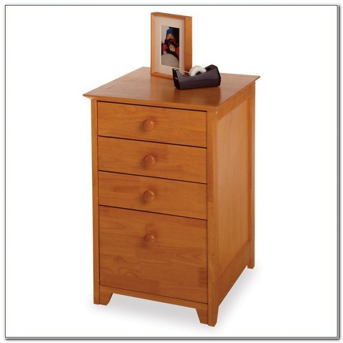 1 Drawer Wooden File Cabinet