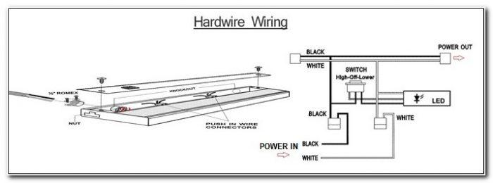 120v Direct Wire Led Under Cabinet Lighting