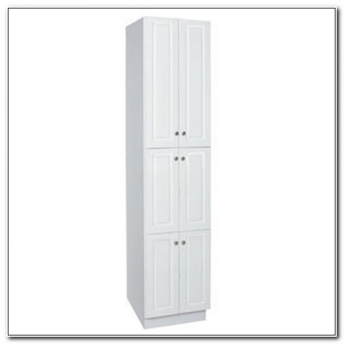 18 Inch Wide White Linen Cabinet
