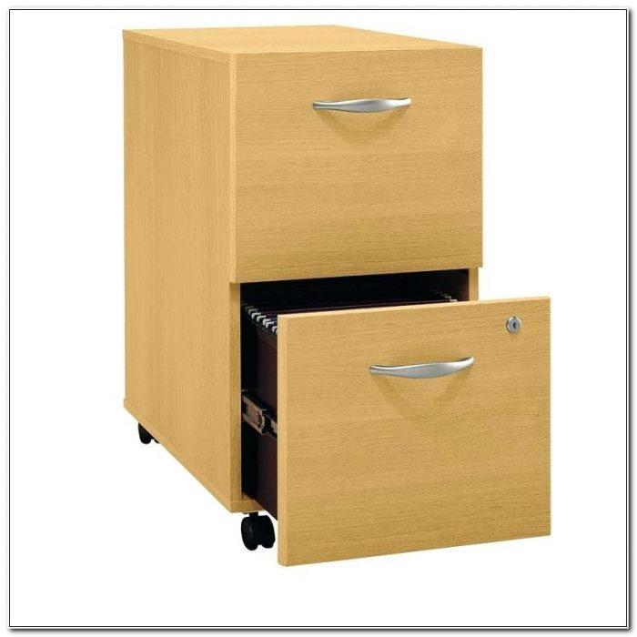 2 Drawer File Cabinet Wood Wheels