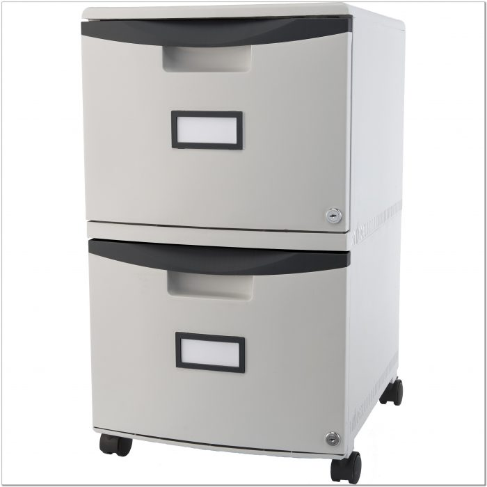 2 Drawer Locking File Cabinet With Wheels