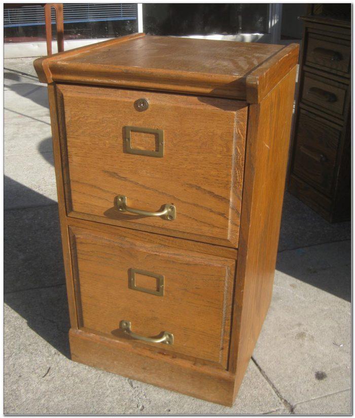 2 Drawer Locking File Cabinet Wood