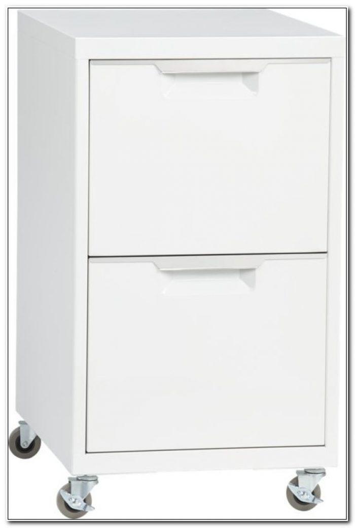 2 Drawer Metal File Cabinet On Wheels