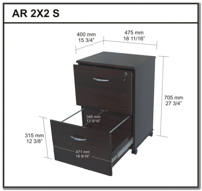 2 Drawer Metal Filing Cabinet Dimensions