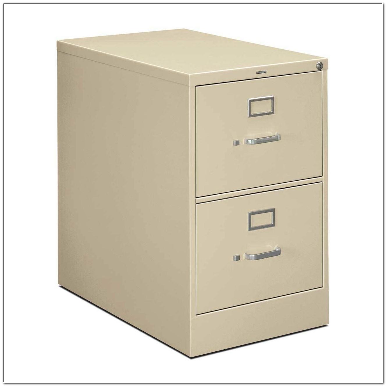 2 Drawer Metal Filing Cabinet With Lock