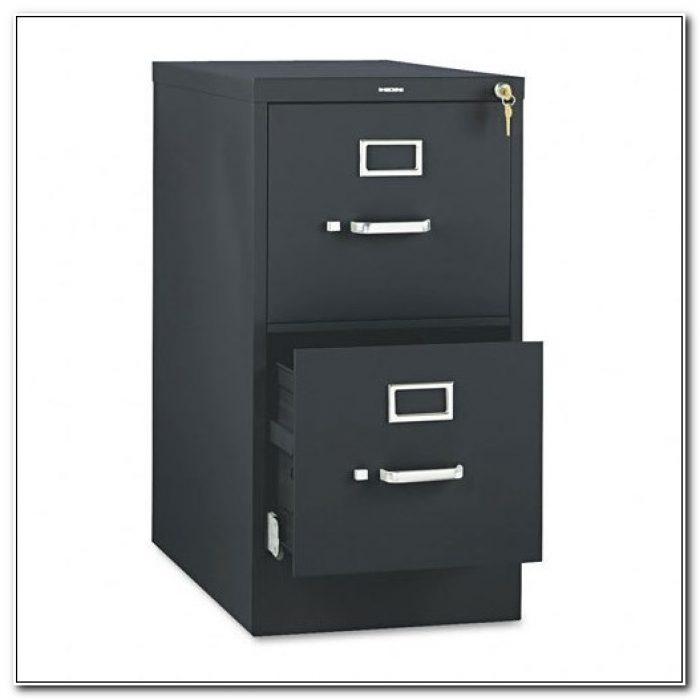 2 Drawer Vertical File Cabinet Black
