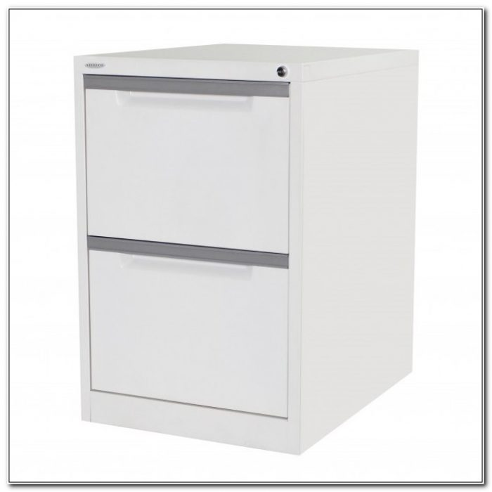 2 Drawer Vertical File Cabinet White