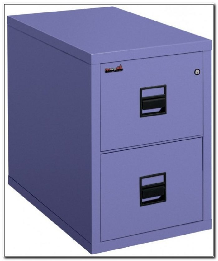 2 Drawer Vertical Fireproof File Cabinet