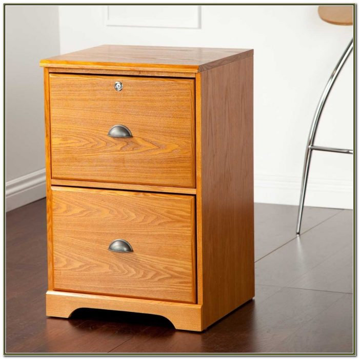 2 Drawer Wooden File Cabinet
