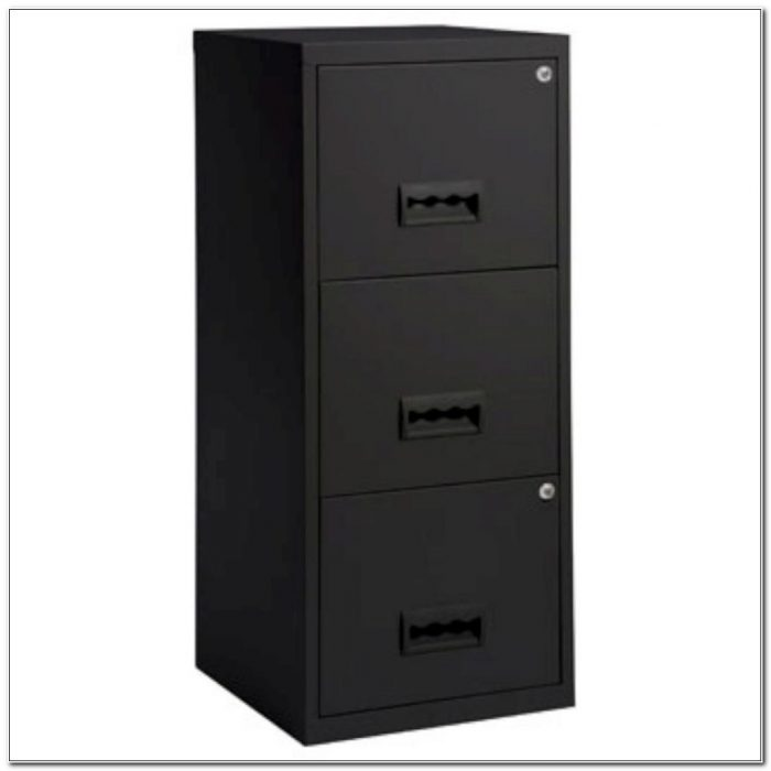 3 Drawer A4 Filing Cabinet Black