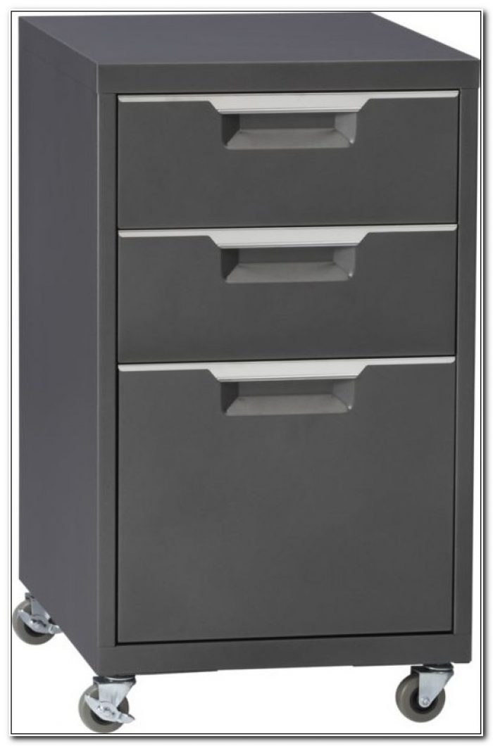 3 Drawer File Cabinet With Wheels
