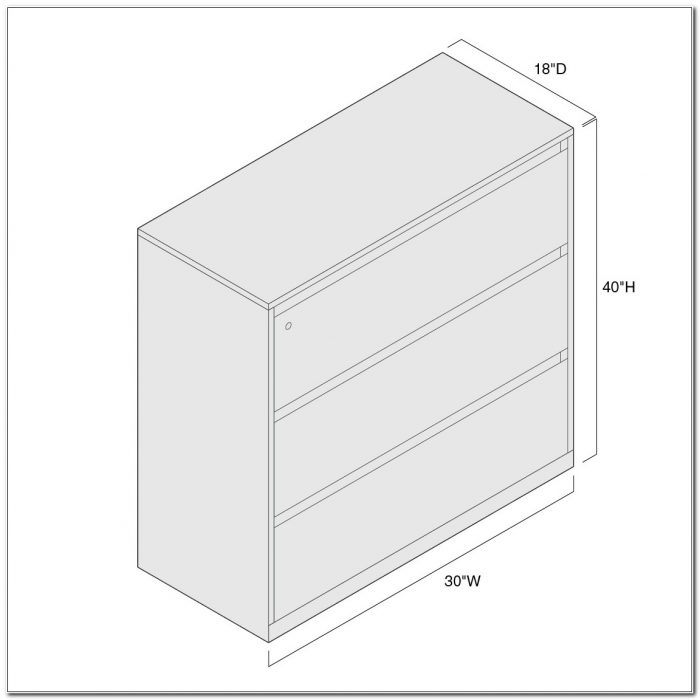 3 Drawer Lateral File Cabinet Dimensions