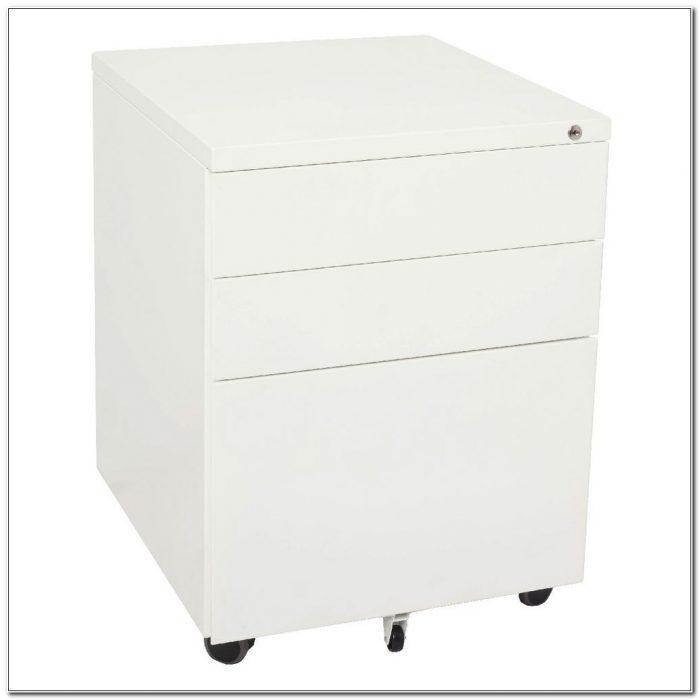 3 Drawer Mobile Pedestal File Cabinet
