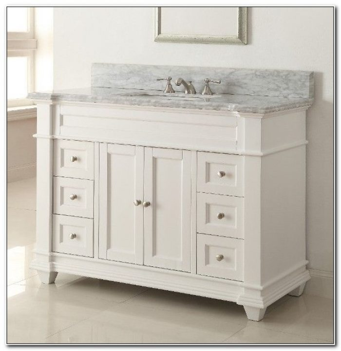 36 Inch White Vanity Cabinet