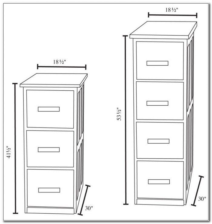 4 Drawer File Cabinet Dimensions