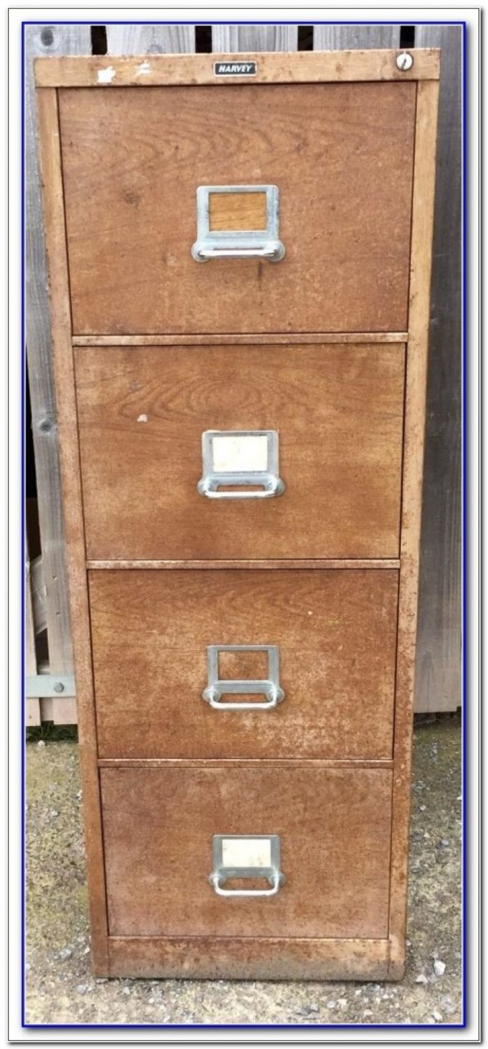 4 Drawer Filing Cabinet Wood Effect