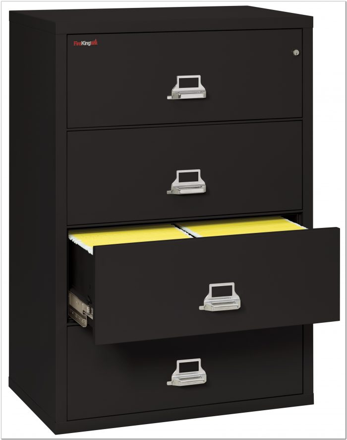 4 Drawer Lateral File Cabinet Fireproof