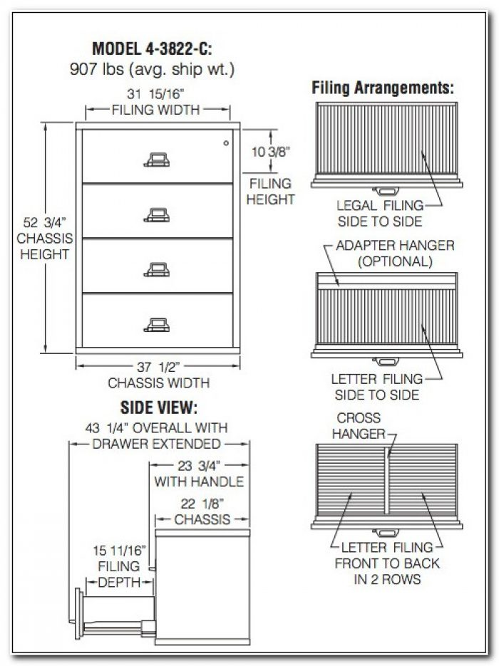 4 Drawer Lateral Filing Cabinet Dimensions