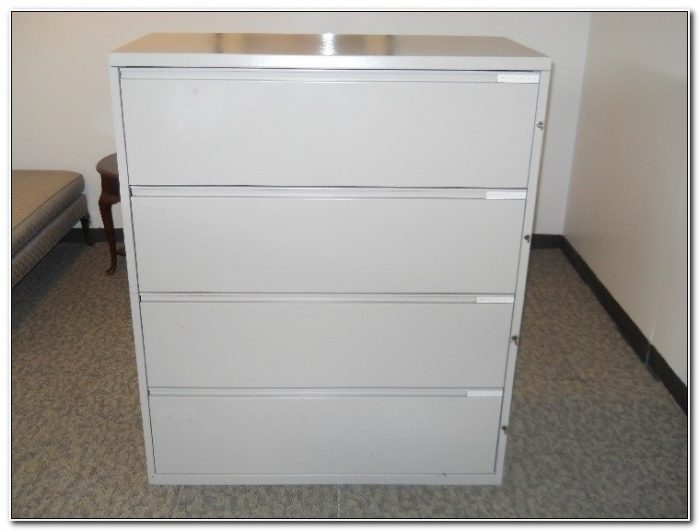 4 Drawer Metal Filing Cabinet Used